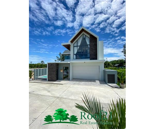 Luxury Pool Villa 2 Storey in Modern Nordic Style 142. Trw. 3 bedrooms, 3 bathrooms, only 3 after the last.